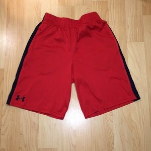 Boys Red Under Armour Short (MD)